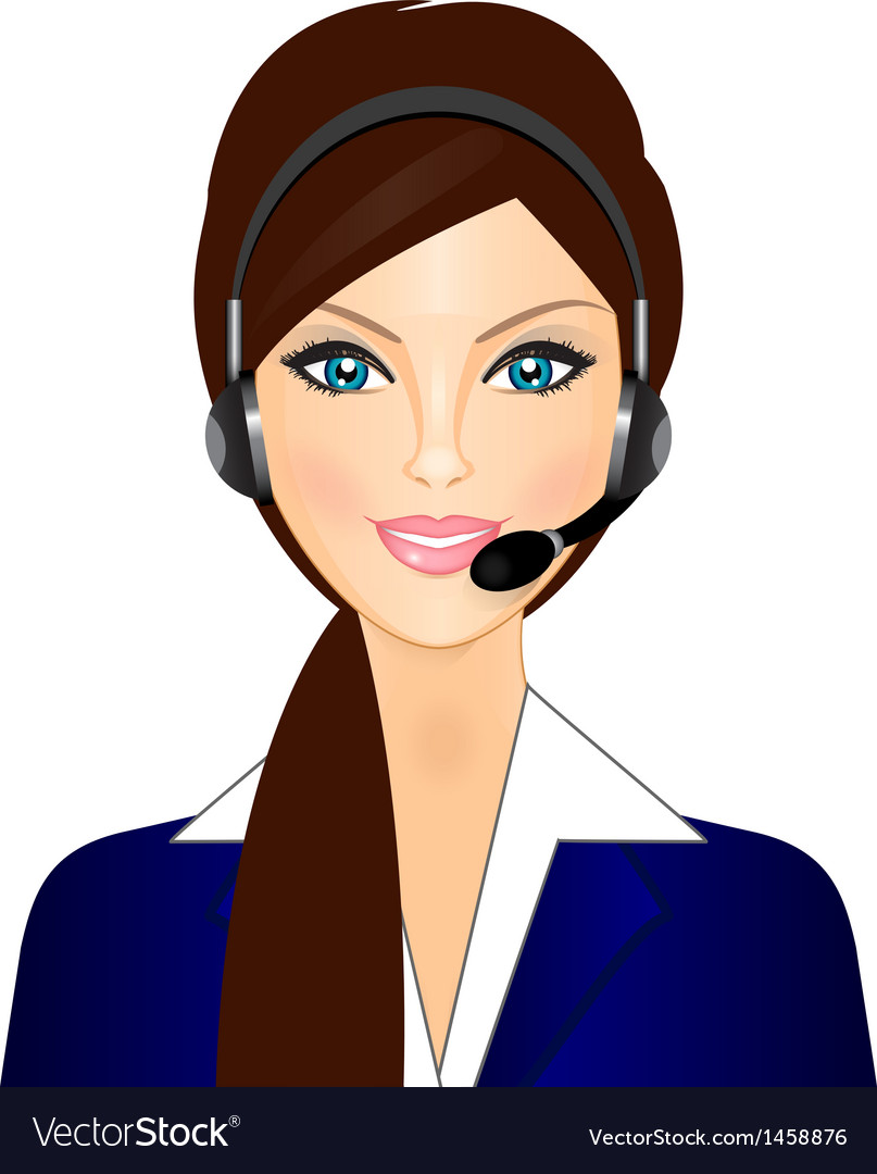 Smiling telephone operator vector | Price: 1 Credit (USD $1)