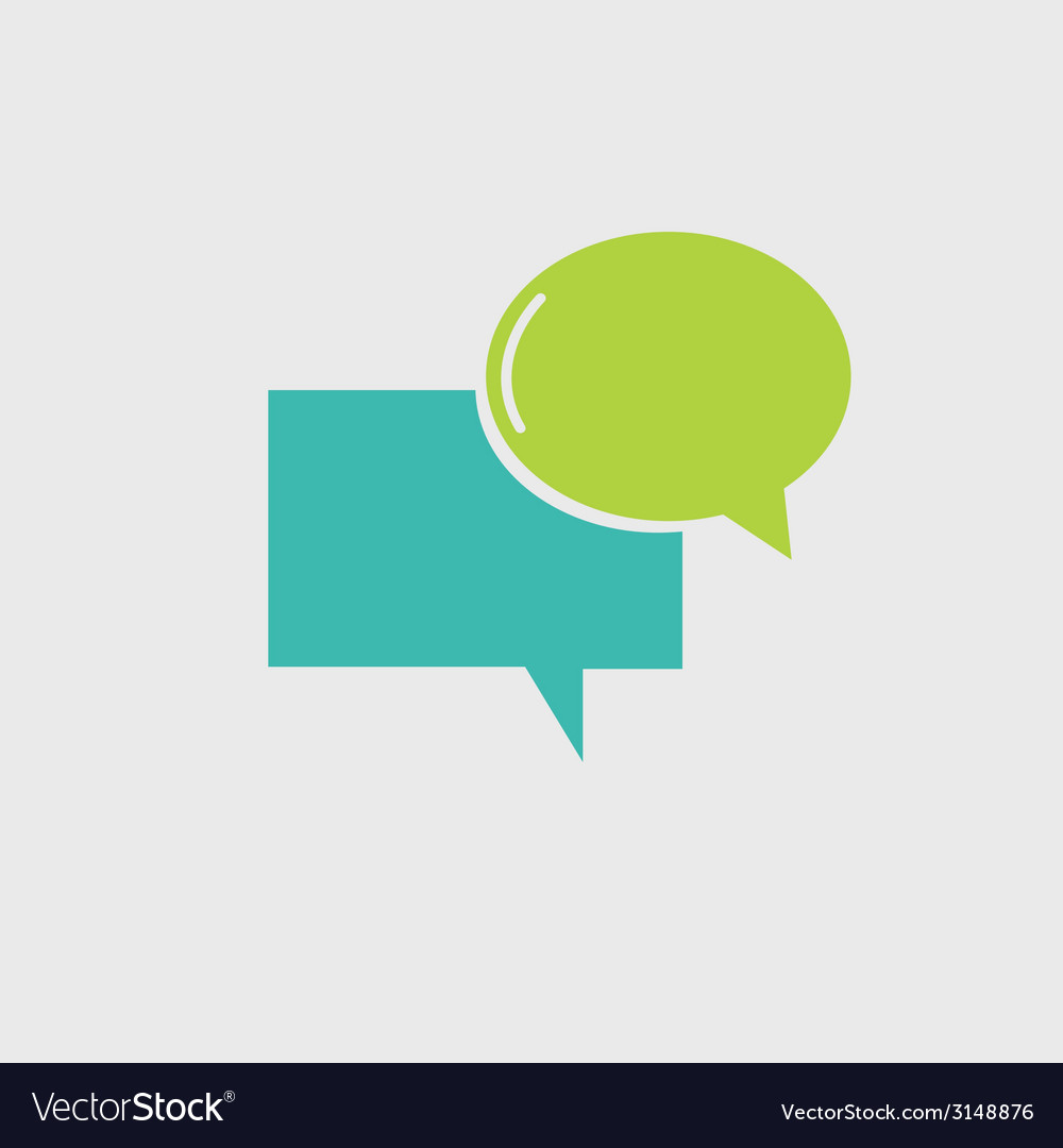 Speech bubble icon vector | Price: 1 Credit (USD $1)