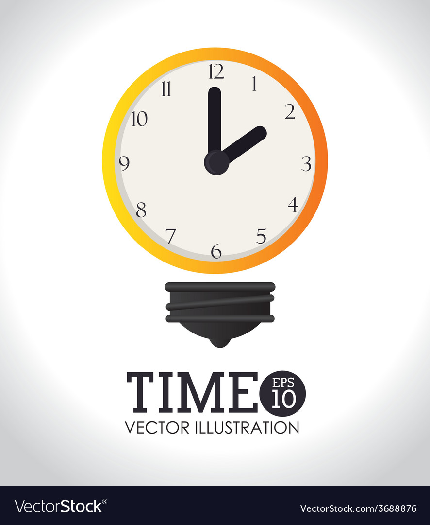 Time design over white background vector | Price: 1 Credit (USD $1)