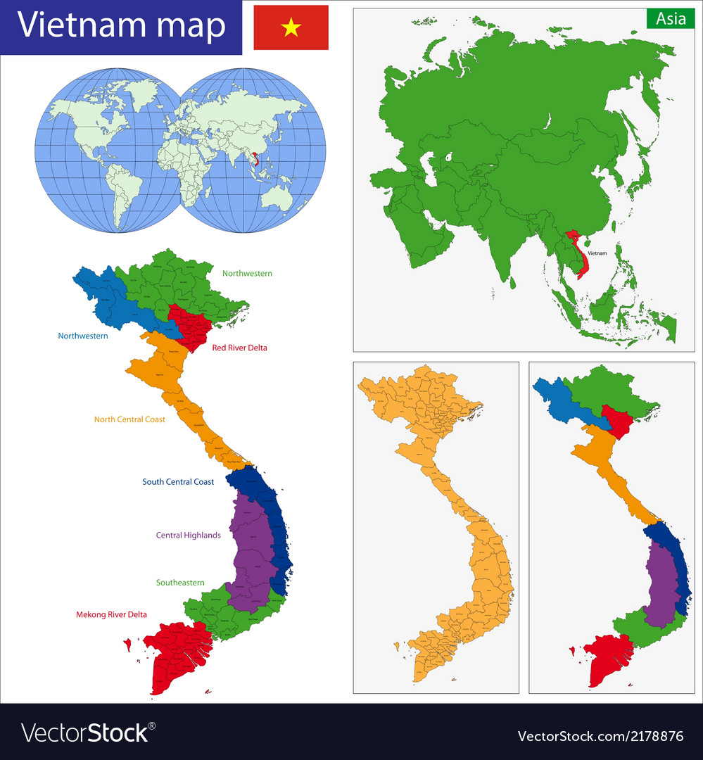 Vietnam map vector | Price: 1 Credit (USD $1)