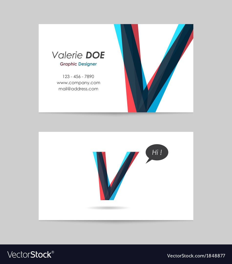 Business card template - letter v vector   Price: 1 Credit (USD $1)