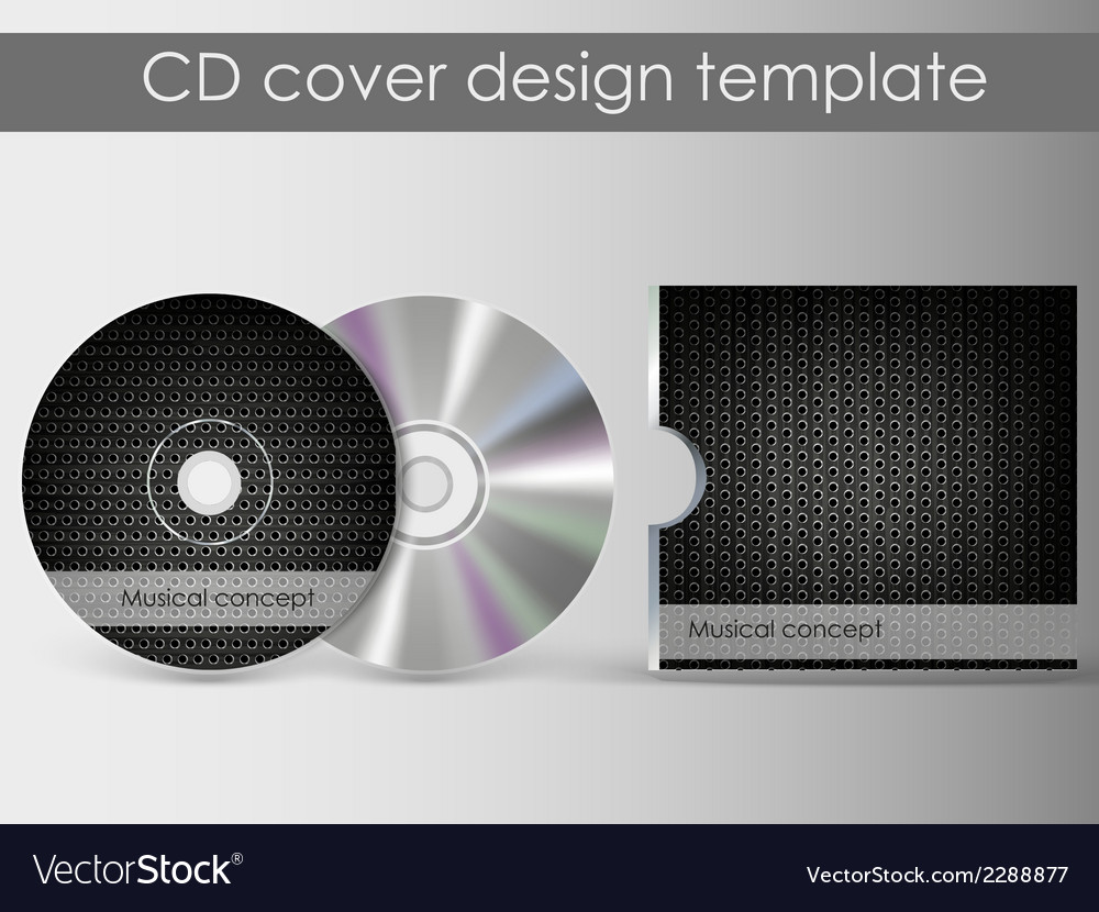 Cd cover presentation design template vector | Price: 1 Credit (USD $1)