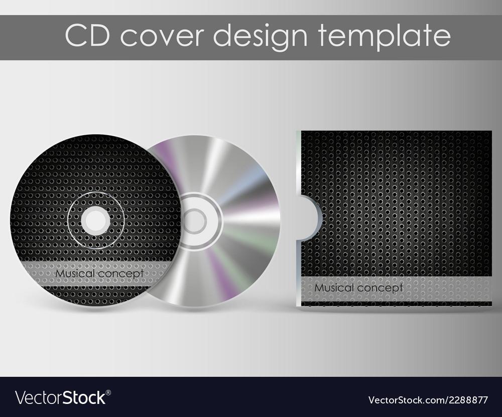 Cd cover presentation design template vector | Price: 1 Credit (USD $1)