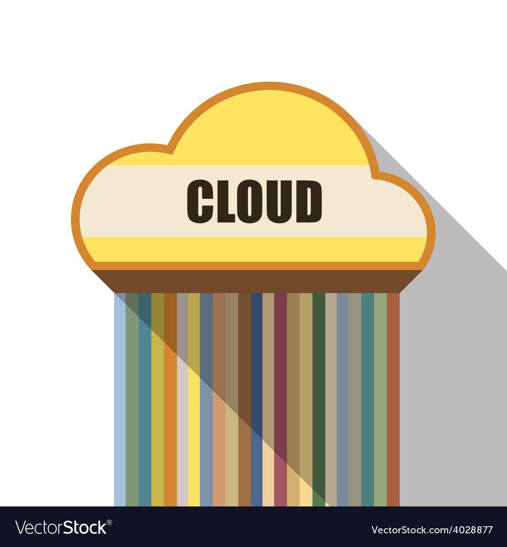 Cloud symbol flat design vector | Price: 1 Credit (USD $1)