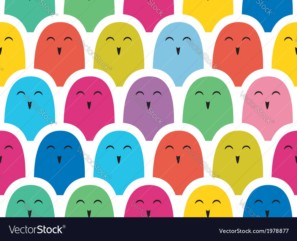 Colorful simple pattern  crowd vector | Price: 1 Credit (USD $1)