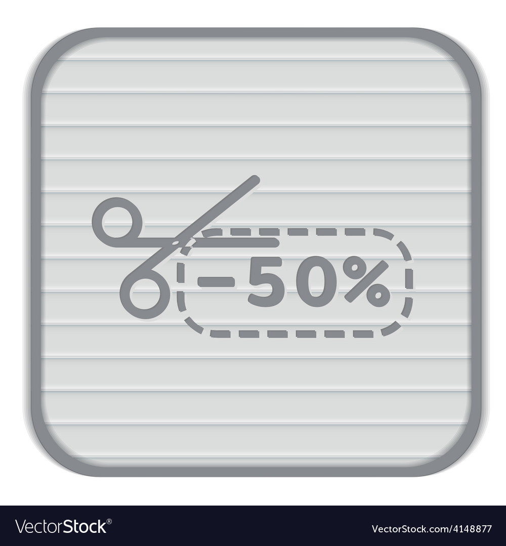 Discount coupon with scissors symbol icon vector | Price: 1 Credit (USD $1)