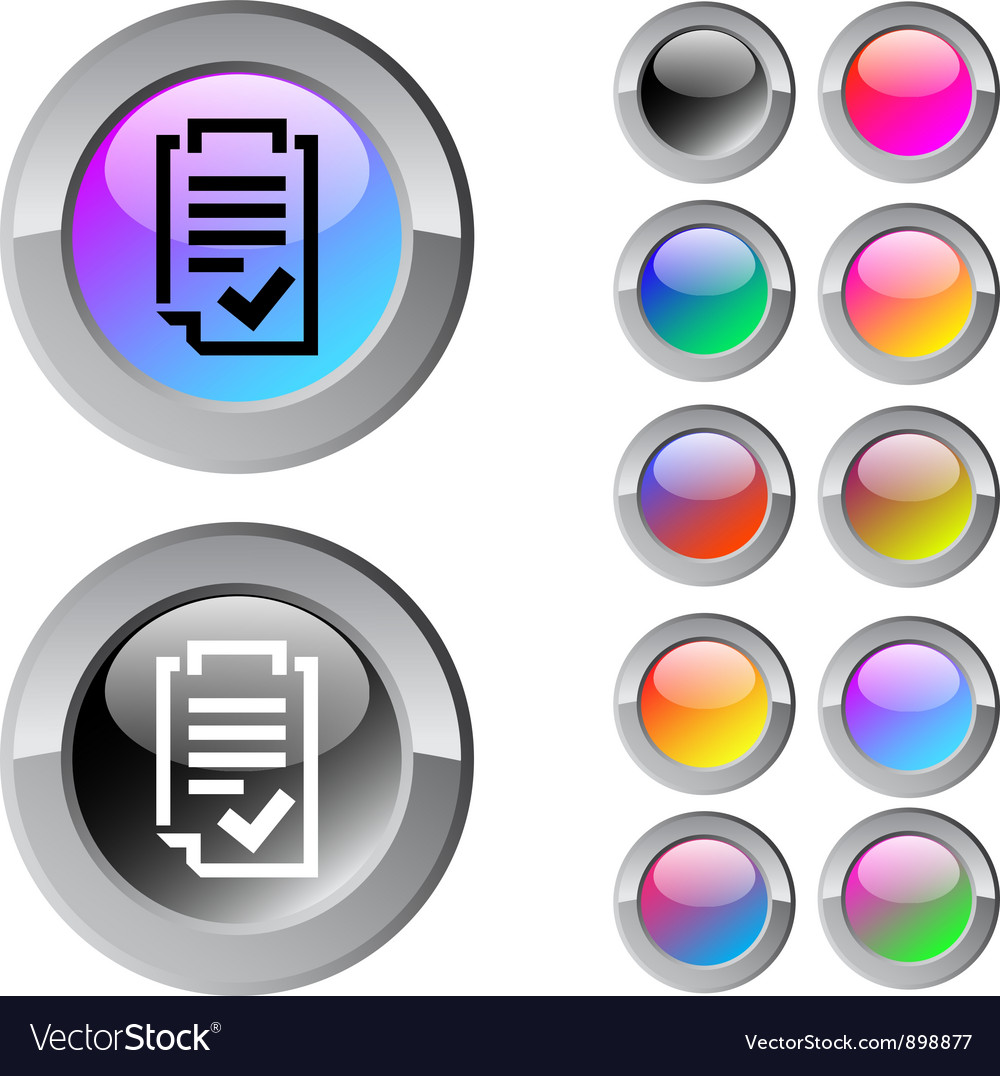 Form multicolor round button vector | Price: 1 Credit (USD $1)