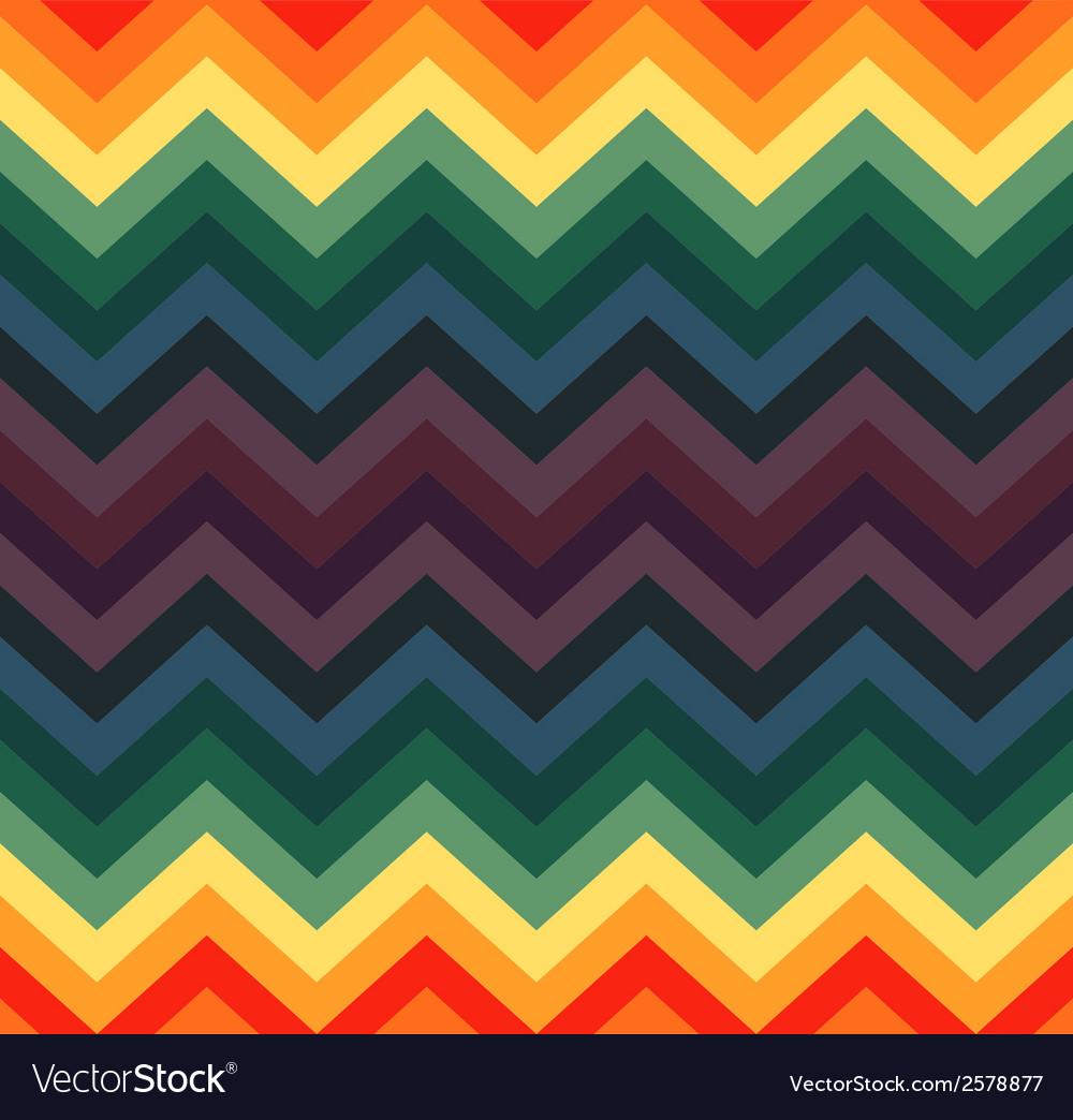 Geometric zigzag seamless pattern vector | Price: 1 Credit (USD $1)