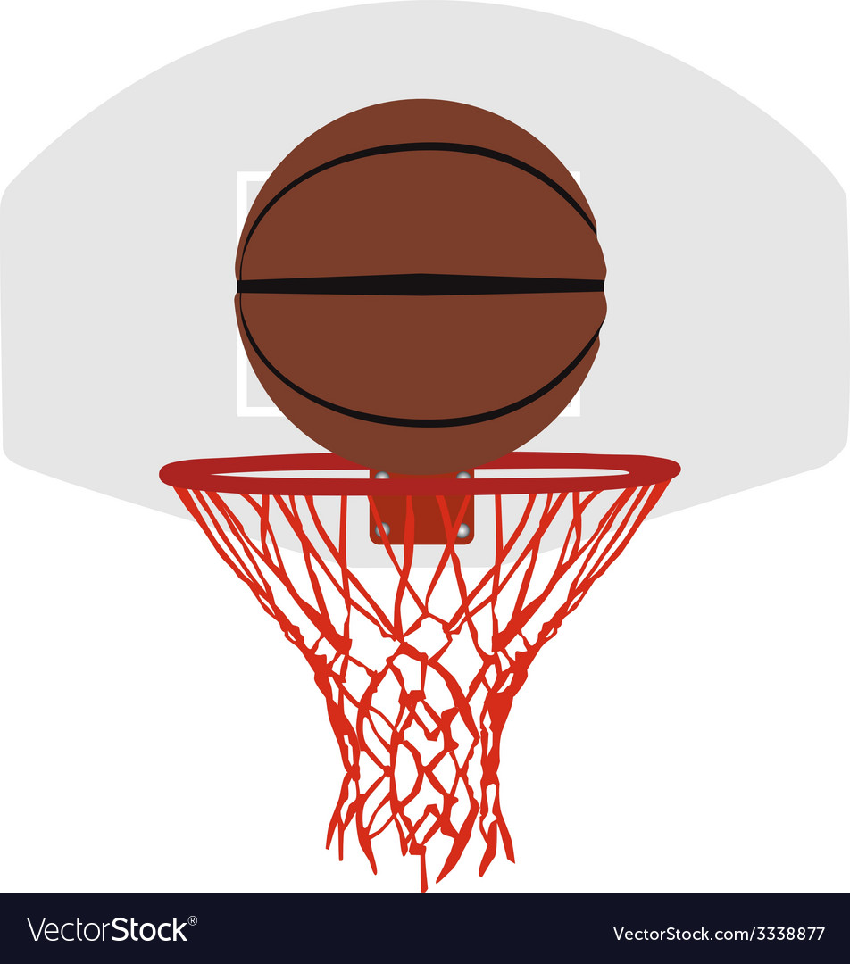 Grey basketball basket and hoop vector | Price: 1 Credit (USD $1)