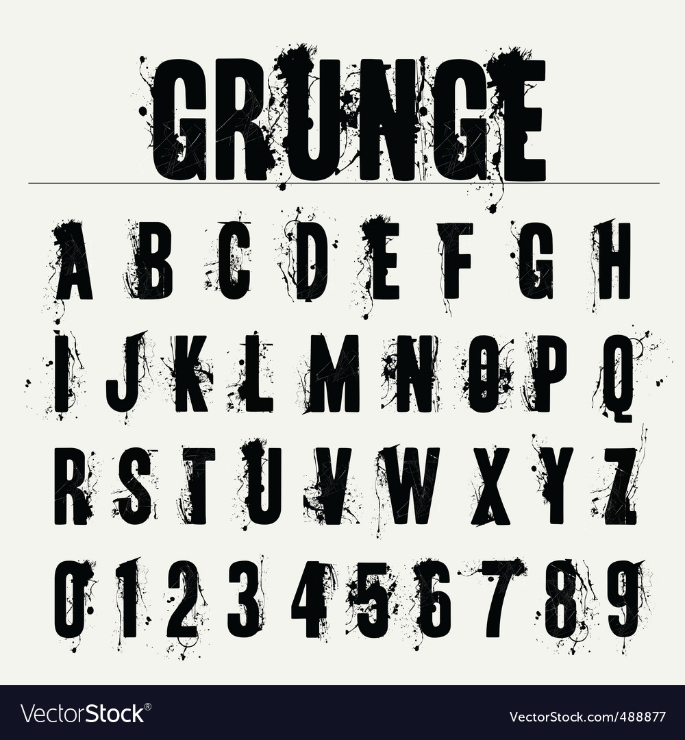 Grunge fonts vector | Price: 1 Credit (USD $1)