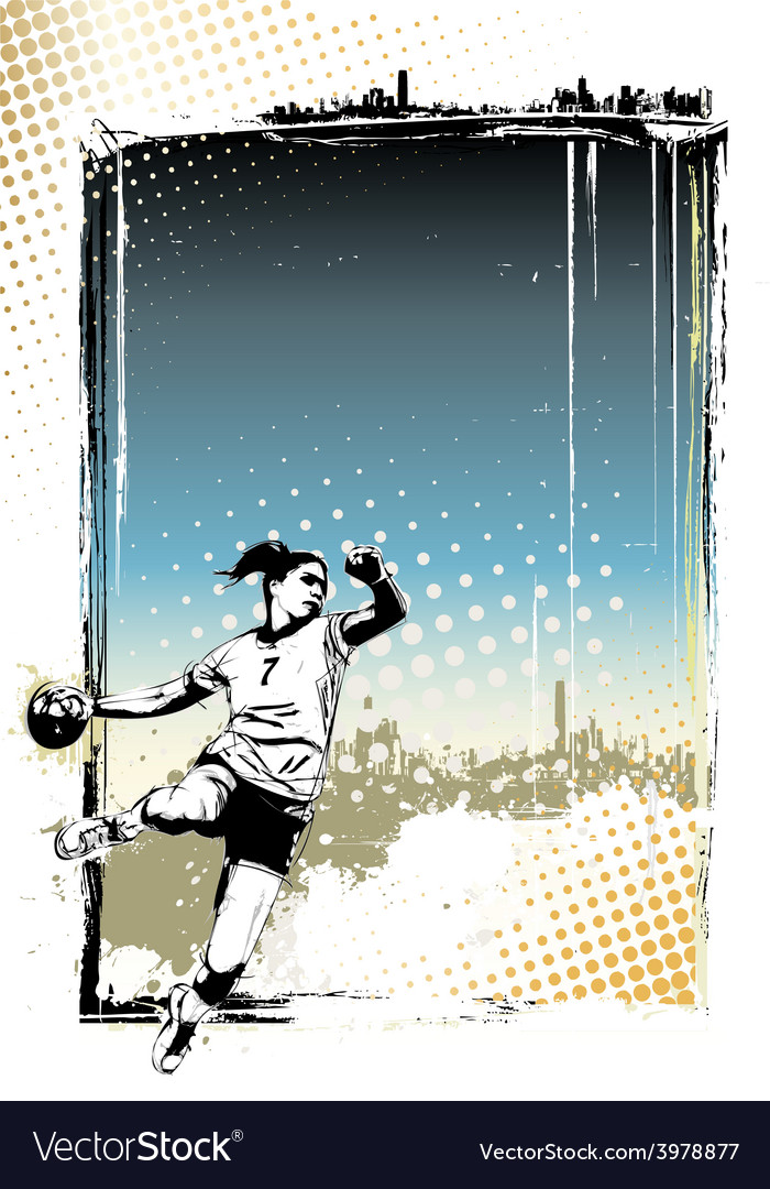 Handball poster background vector | Price: 1 Credit (USD $1)