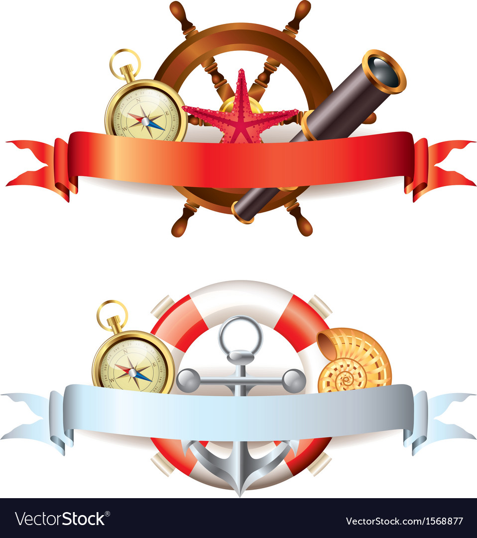 Marine tools two compositions vector | Price: 1 Credit (USD $1)