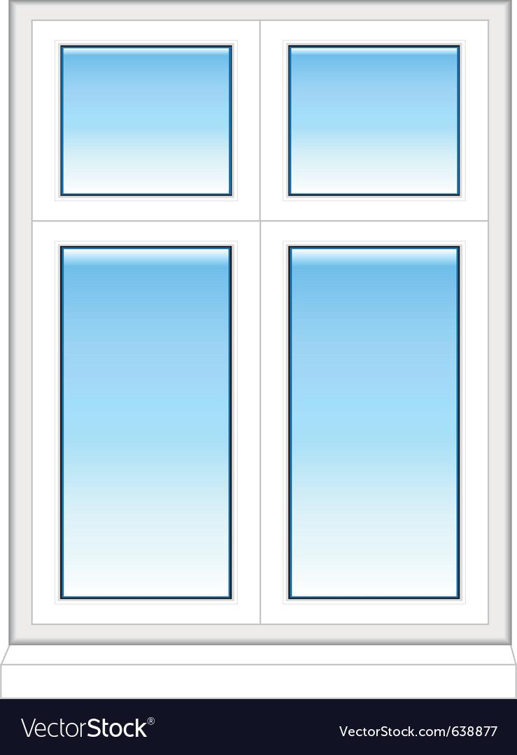 Plastic windows in color vector | Price: 1 Credit (USD $1)
