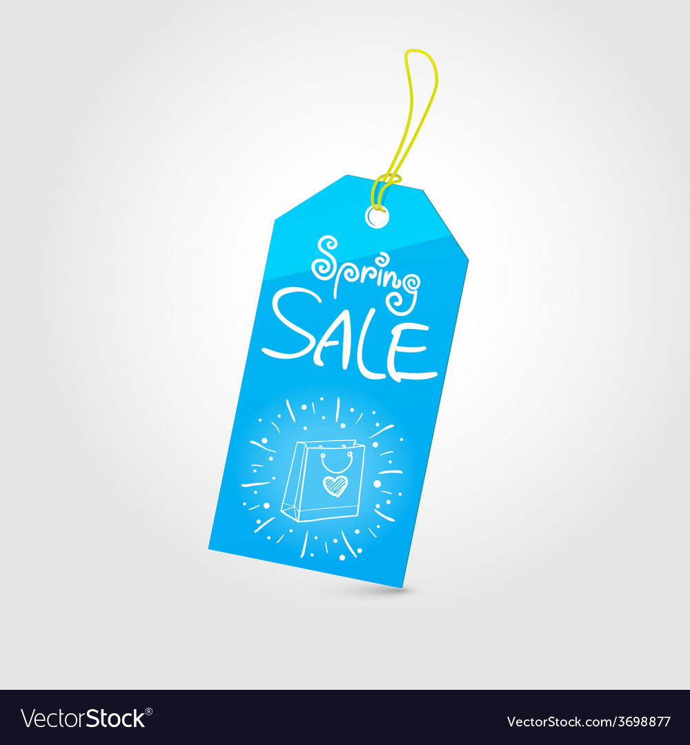 Spring sale tag 01 vector | Price: 1 Credit (USD $1)