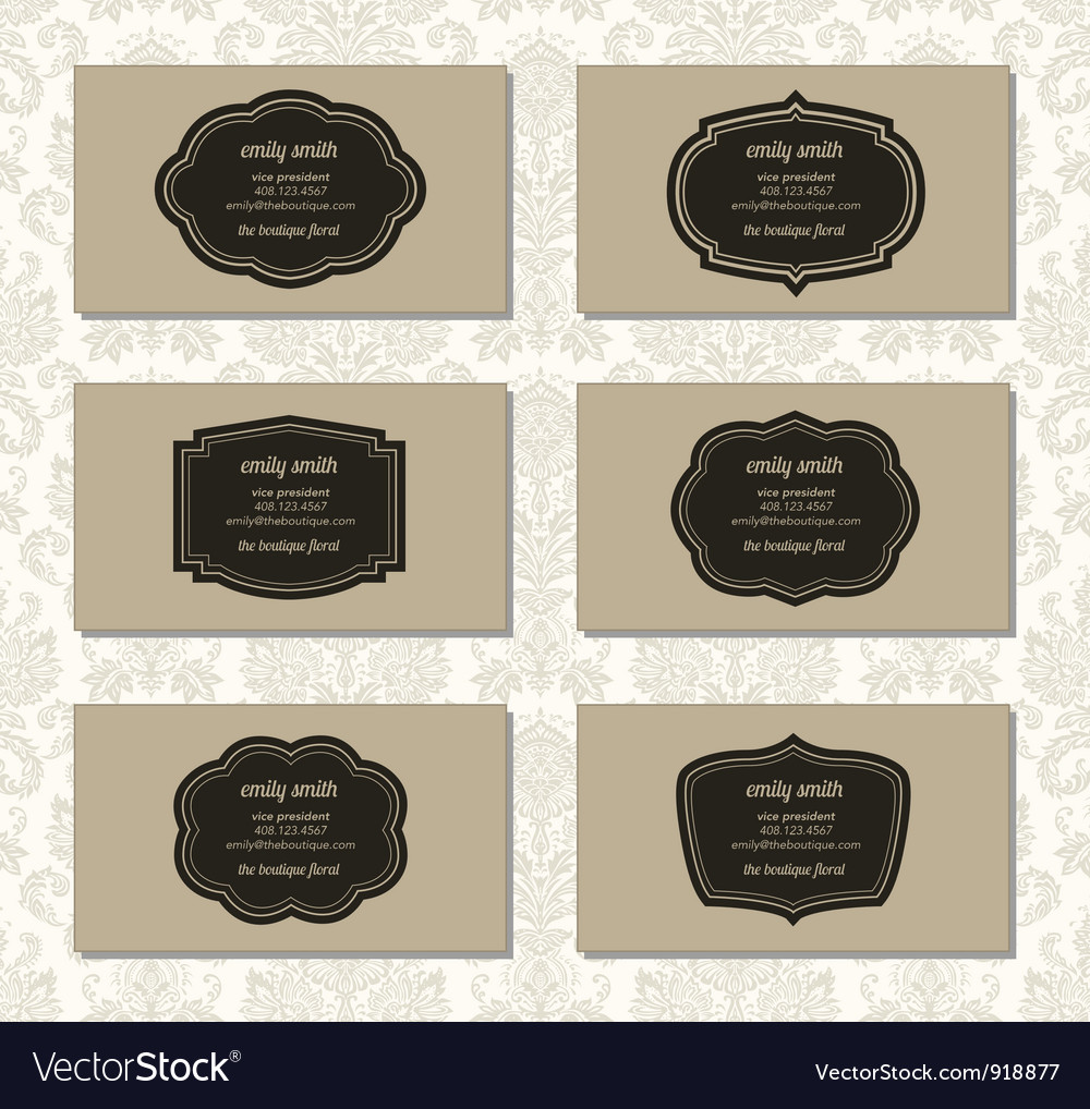 Vintage business cards vector | Price: 1 Credit (USD $1)