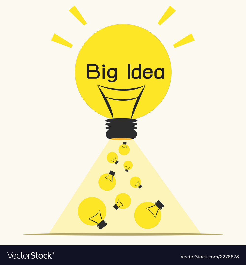 Big ideaidea concept vector | Price: 1 Credit (USD $1)