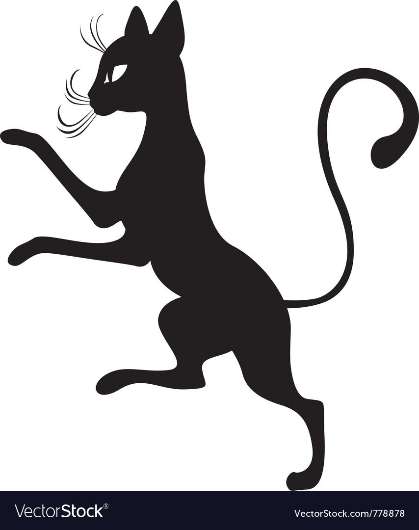 Black cats in the profile vector | Price: 1 Credit (USD $1)
