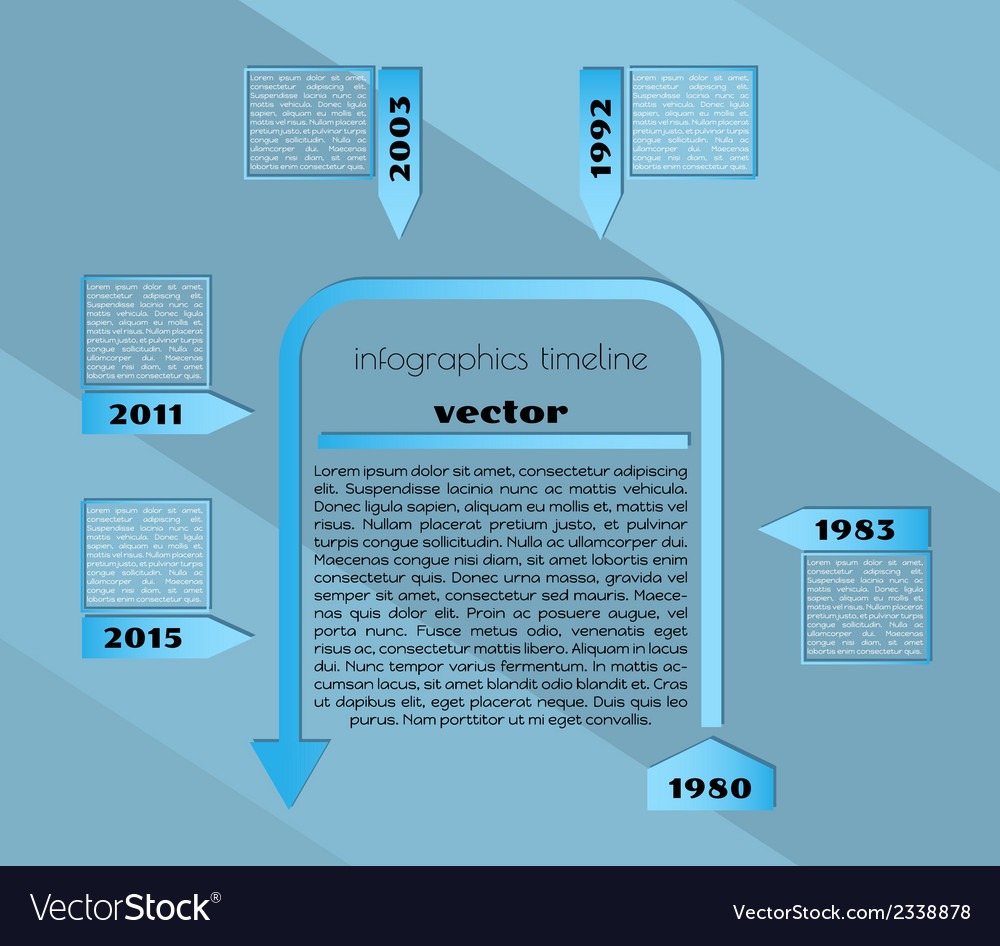 Blue timeline infographic template vector | Price: 1 Credit (USD $1)
