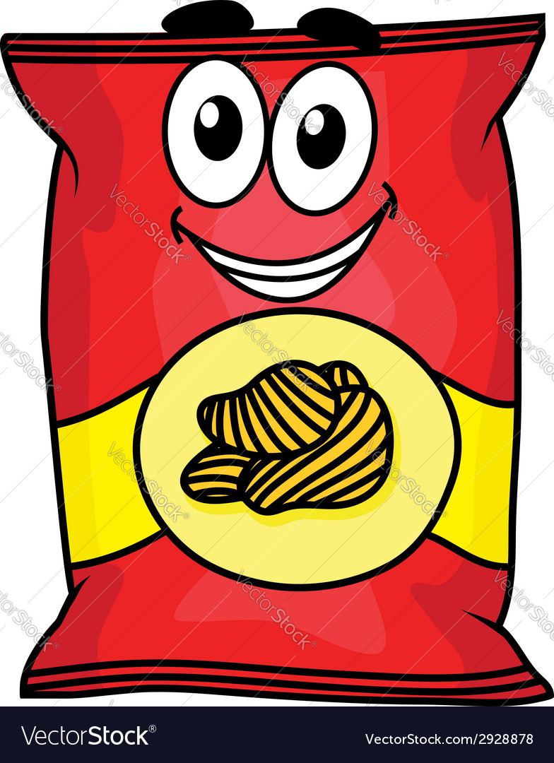 Cartoon potato chips character vector | Price: 1 Credit (USD $1)