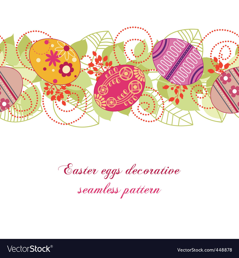 Easter eggs pattern vector | Price: 1 Credit (USD $1)