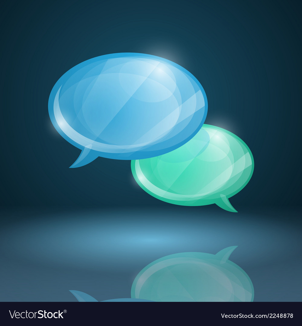 Glossy speech bubbles icon vector | Price: 1 Credit (USD $1)
