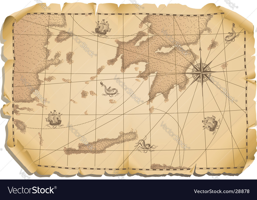 Old map vector | Price: 3 Credit (USD $3)