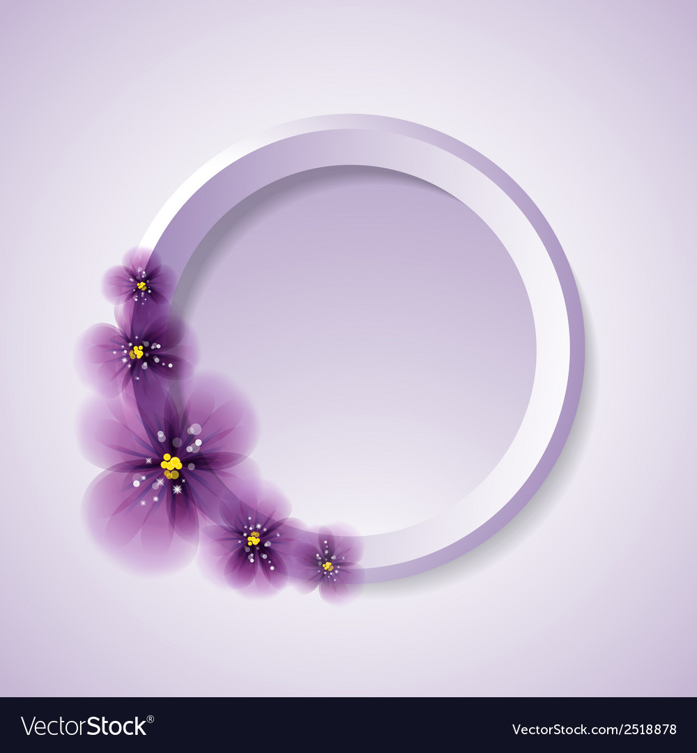 Pansy flowers and circle vector | Price: 1 Credit (USD $1)
