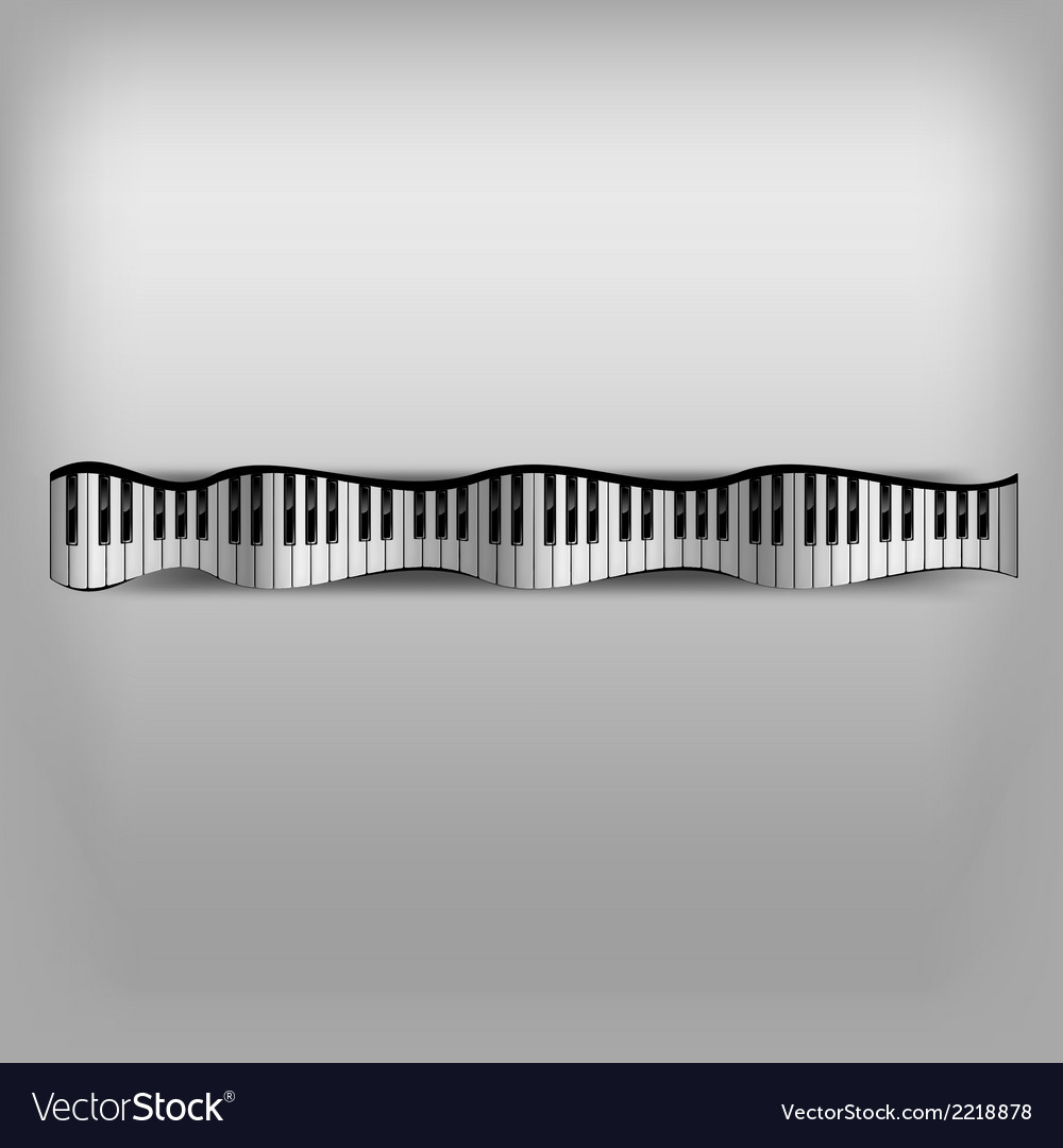Piano wave keyboard vector | Price: 1 Credit (USD $1)