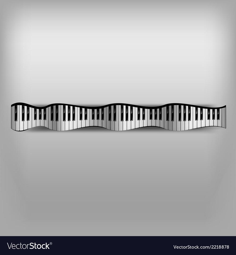 Piano wave keyboard vector   Price: 1 Credit (USD $1)