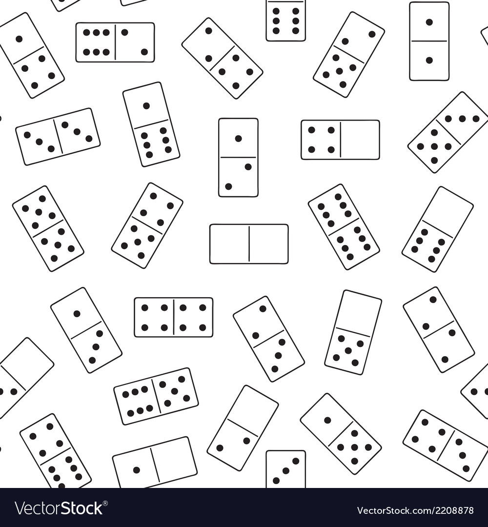 Seamless domino background vector | Price: 1 Credit (USD $1)