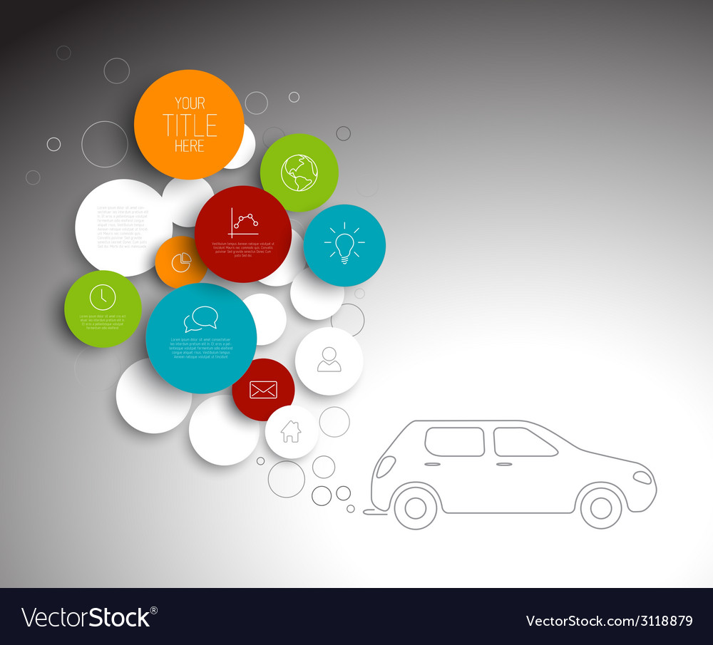 Abstract circles pollution infographic template vector | Price: 1 Credit (USD $1)