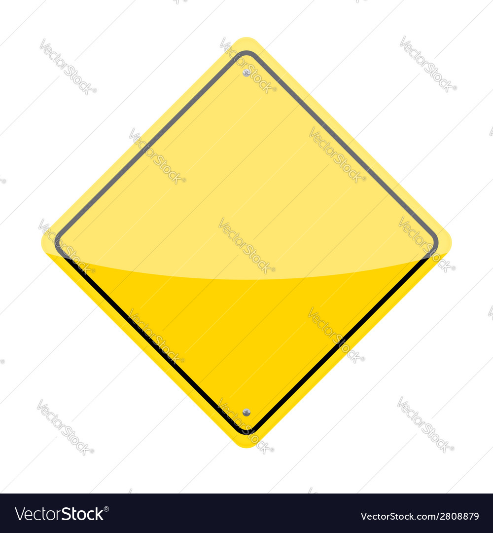 Blank warning sign vector | Price: 1 Credit (USD $1)
