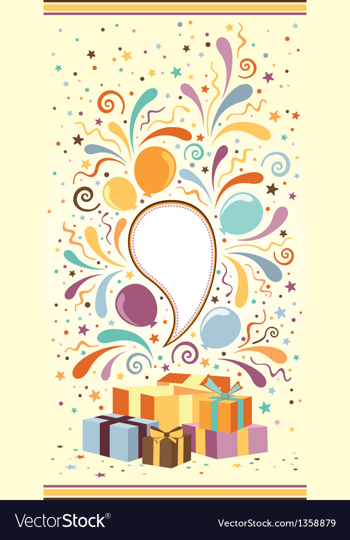 Celebration banner with gift boxes vector | Price: 1 Credit (USD $1)