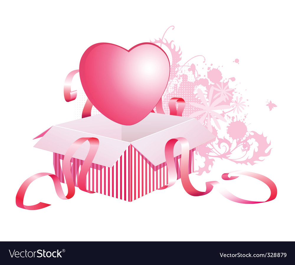 Heart in box vector | Price: 1 Credit (USD $1)