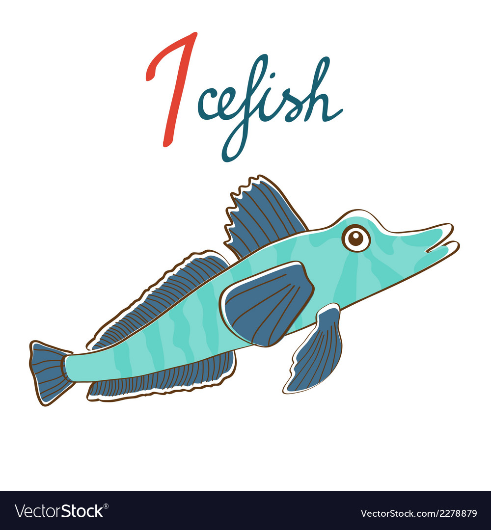 I is for icefish vector | Price: 1 Credit (USD $1)