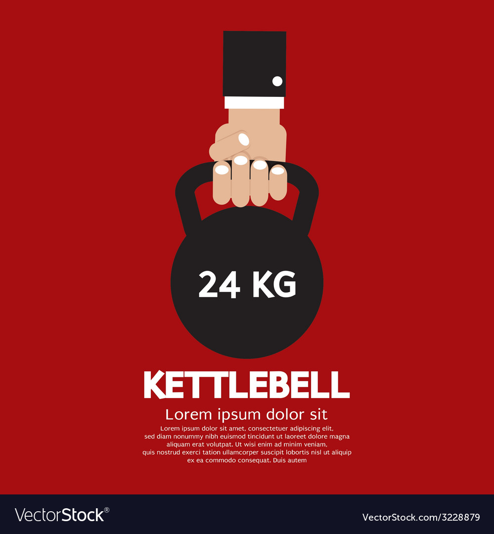 Kettlebell fitness exercising sign vector | Price: 1 Credit (USD $1)