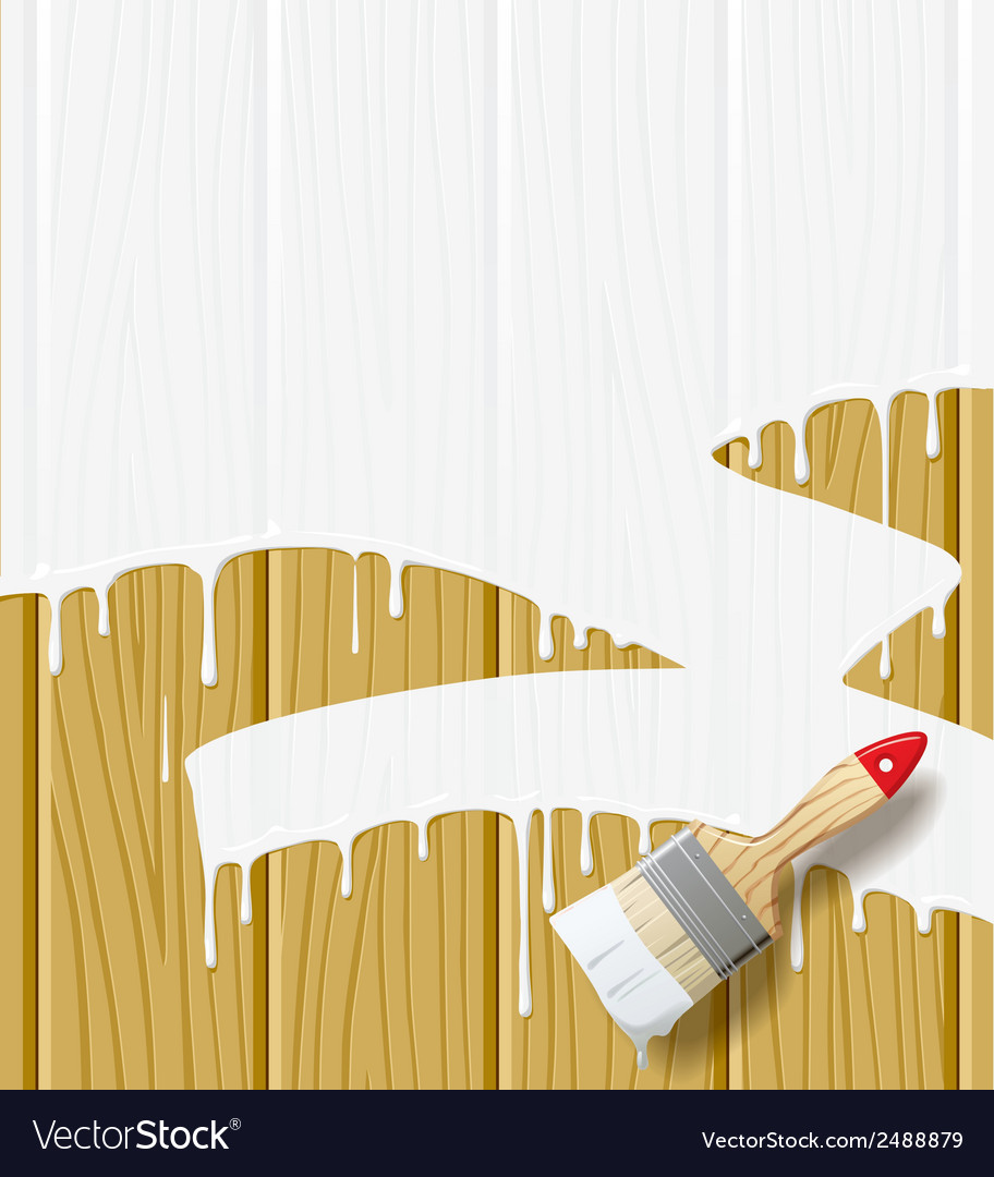 Painted wood vector