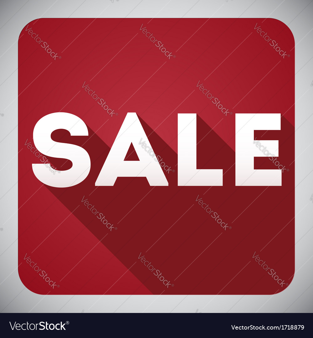 Sale flat design icon for your business and promo vector | Price: 1 Credit (USD $1)