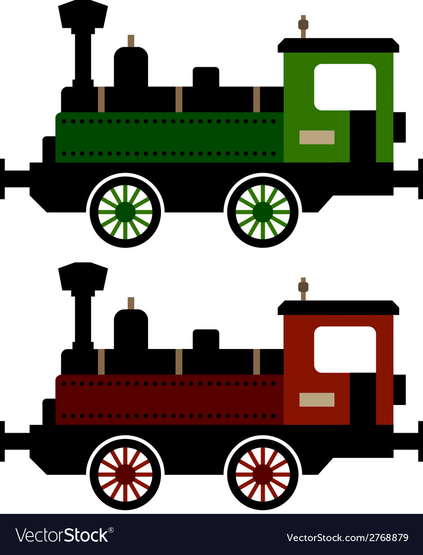 Steam train locomotive vector | Price: 1 Credit (USD $1)