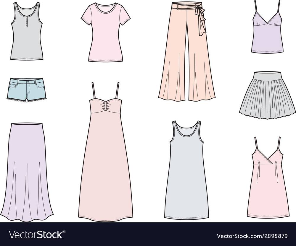 Summer clothes vector | Price: 1 Credit (USD $1)
