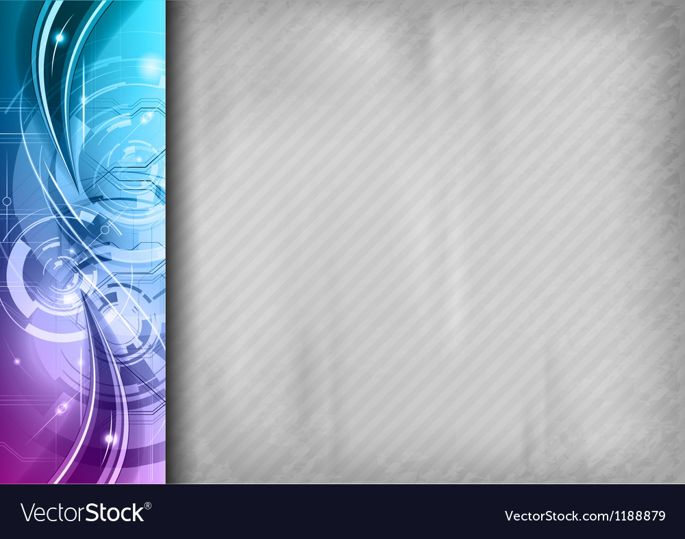 Tech background line left blue vector | Price: 1 Credit (USD $1)