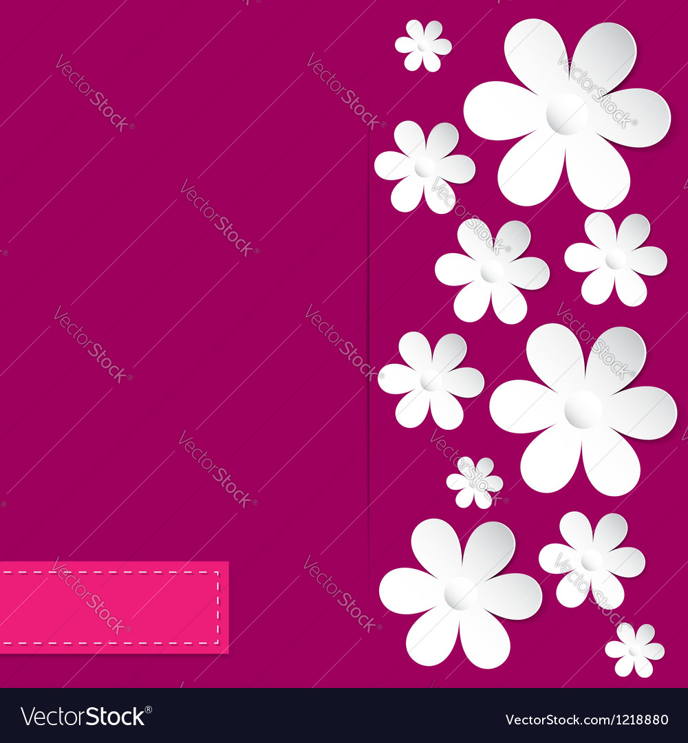 Camomile pink background vector | Price: 1 Credit (USD $1)