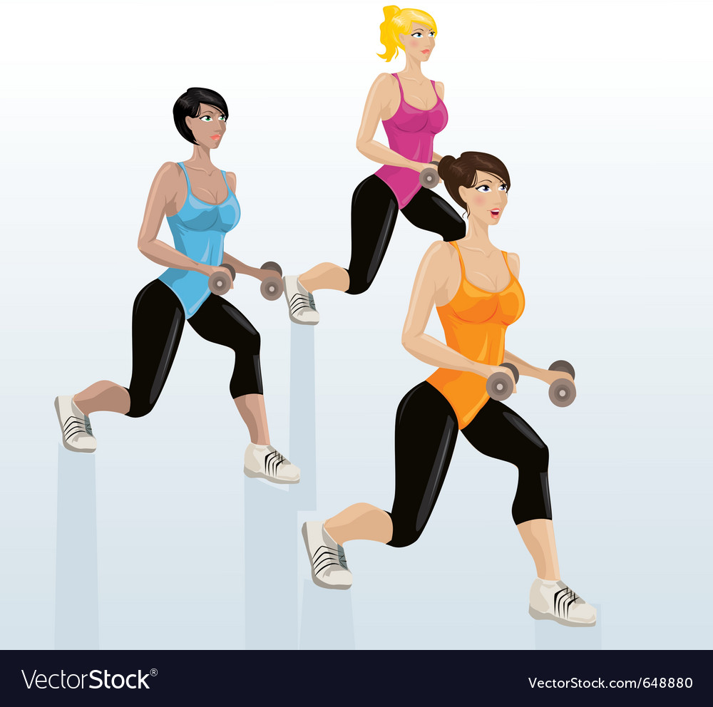 Female exercising vector | Price: 1 Credit (USD $1)