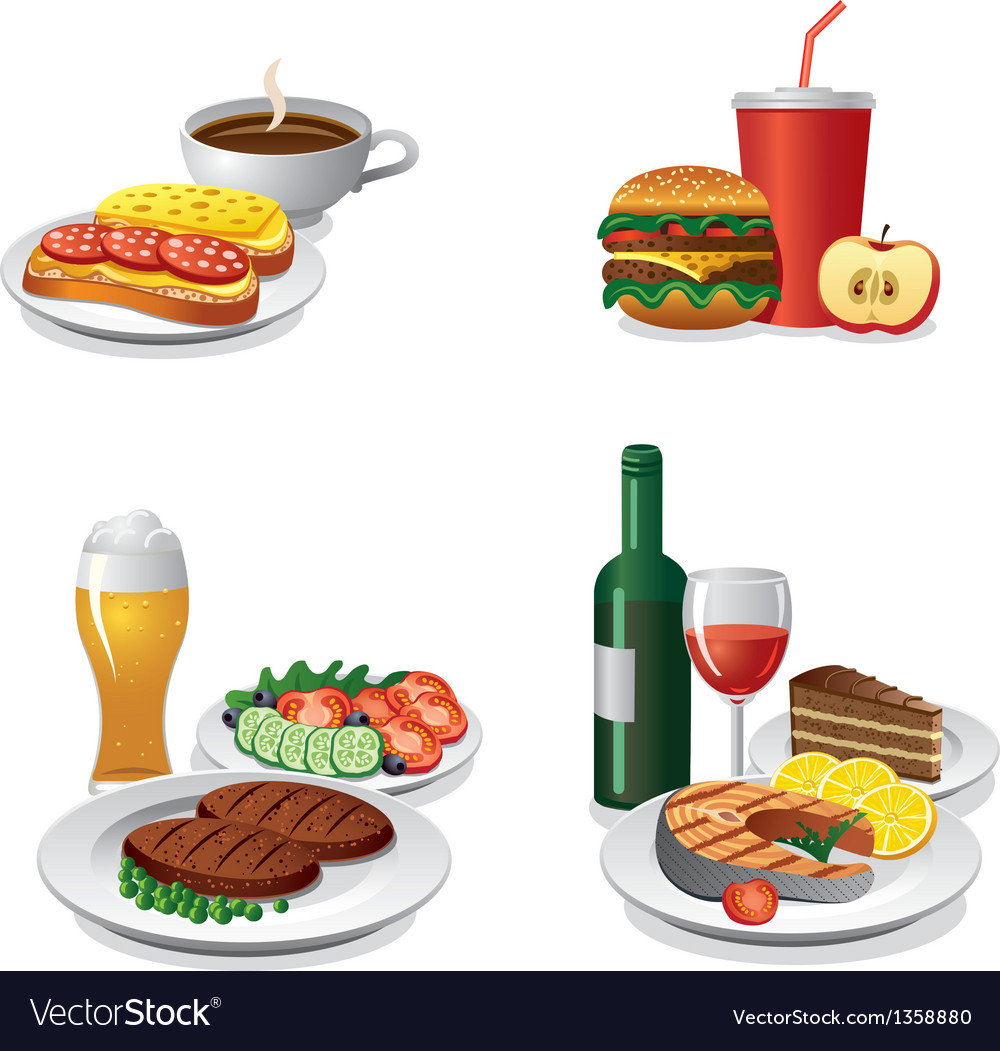 Food icon set vector | Price: 3 Credit (USD $3)