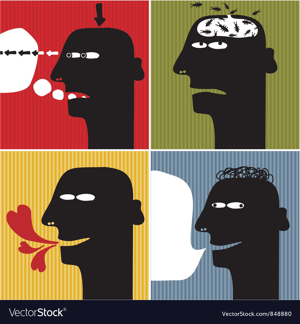 Head silhouette scenarios vector | Price: 3 Credit (USD $3)