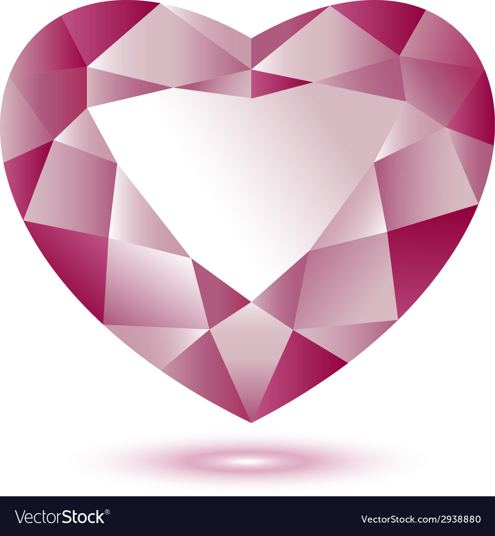 Heart shape gem vector | Price: 1 Credit (USD $1)