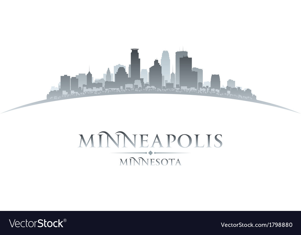 Minneapolis minnesota city skyline silhouette vector | Price: 1 Credit (USD $1)