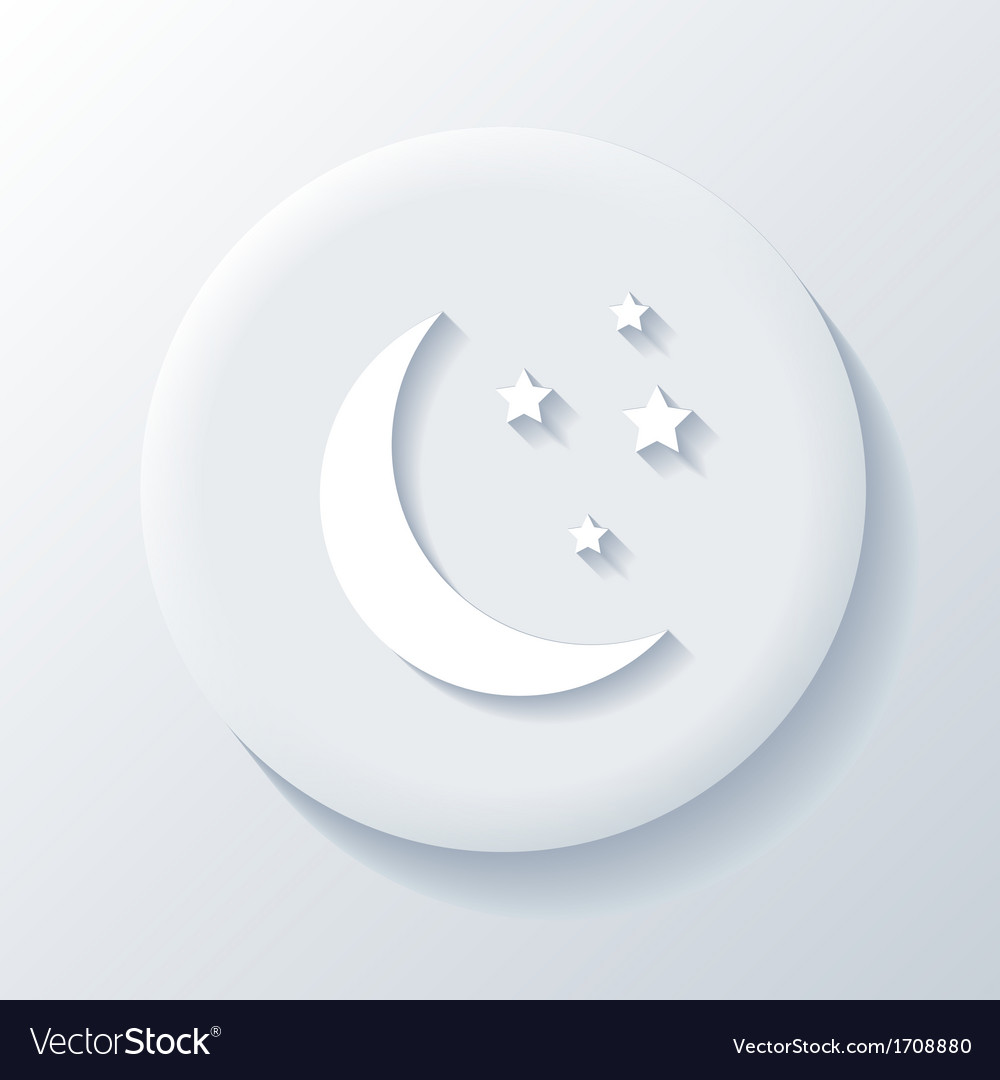 Moon 3d paper icon vector | Price: 1 Credit (USD $1)