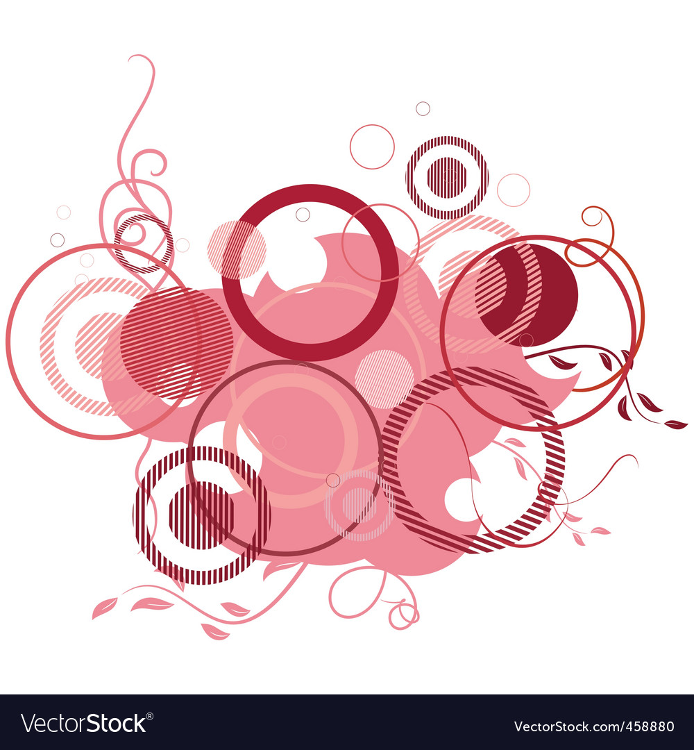 Pink banner consisting of circles vector | Price: 1 Credit (USD $1)