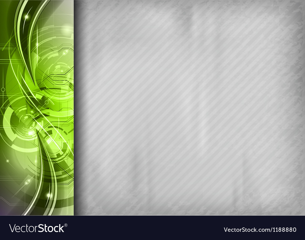 Tech background line left green vector | Price: 1 Credit (USD $1)